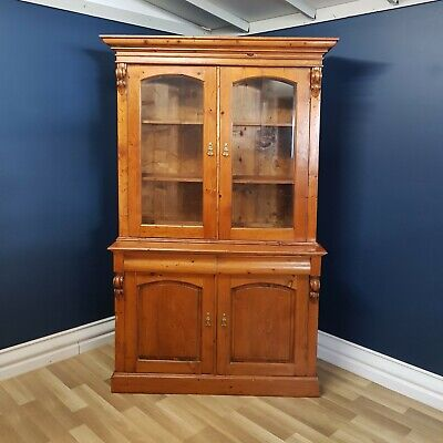 Rustic English Provincial, Solid Baltic Pine Bookcase, Kitchen Dresser, Buffet