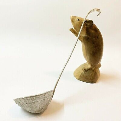Hand Crafted Barnacle Shell Shaped Aluminium Serving Sauce Ladle, 21cm Long