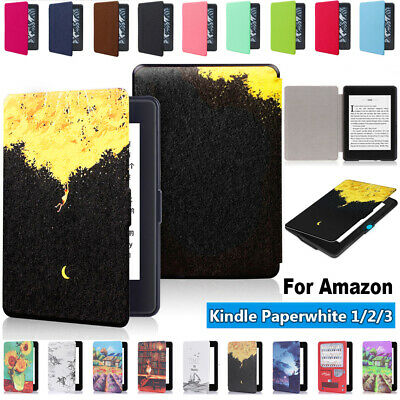 Magnetic Cover Smart Case e-Reader Shell For Amazon Kindle Paperwhite 1/2/3