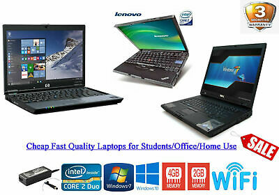 Cheap Fast Windows 10 LAPTOP i5 i3 Core 2 Duo 320GB 4GB RAM WIFI WARRANTY