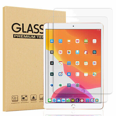 For iPad 10.2 inch 2019 7th Gen 9H Clear Tempered Glass Screen Protector Cover