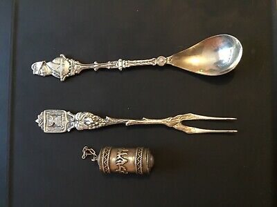 Antique Jewish And French Silver Collection