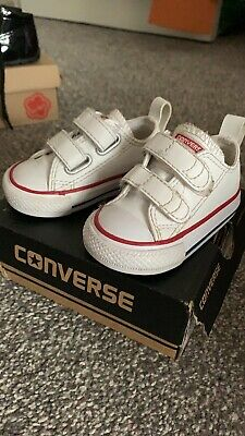 Baby White Converse Size 2