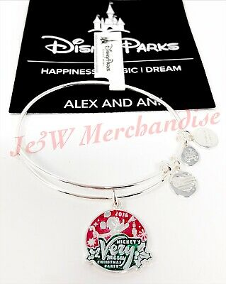 Disney Parks Mickey's Very Merry Christmas Party 2018 Alex And Ani Bangle SEALED
