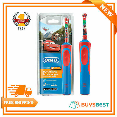 Oral B Stages Power Vitality Disney Cars Electric Rechargeable Kids Toothbrush