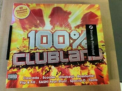 100% Clubland by Various Artists (CD, May-2016, 4 Discs) New & Sealed WF1