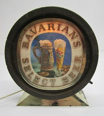 Vtg Bavarians Select Beer Brewery Light Lighted Advertising Sign Bar Man Cave