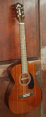 Guild M-120E Steel String Acoustic-Electric All Solid Mahogany Guitar with Case