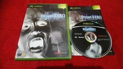 Project Zero Xbox rare horror game free UK postage disc very good condition