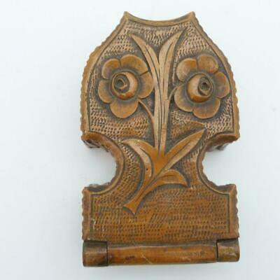 19th CENTURY TREEN CARVED WOOD POCKET WATCH STAND