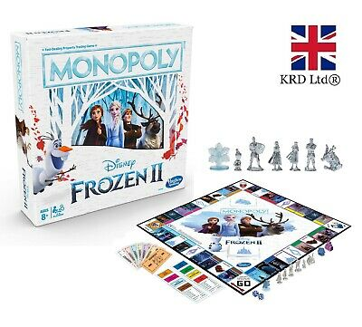 MONOPOLY FROZEN 2 Board Game Kids Family Fun Christmas Stocking Gift NDE5066 UK