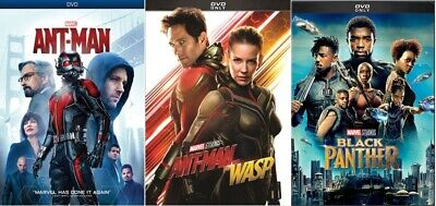 Ant-man, Ant-man and The Wasp & Black panther (DVD - Marvel Movies)
