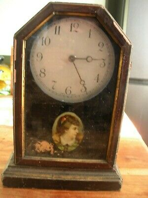 Badenia Clock Manufactory Early 20th C Antique Wood Cased Mantel - for Repairs