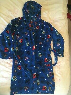 Boy'sAngry Bird (Space) Dressing Gown with hood, 12yrs, Next,blue