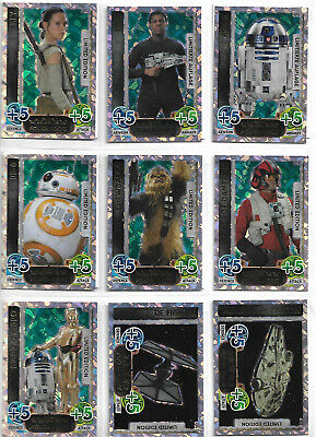 Star Wars Force Attax Force Awakens 14 Limited Edition Promo Set 15