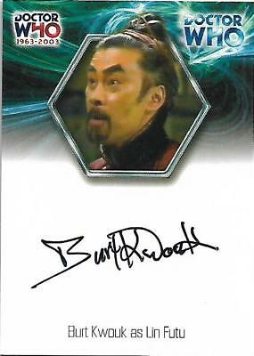 Doctor Who : 40th Anniversary Autograph Card WA18 Burt Kwouk as Lin Futu CASE