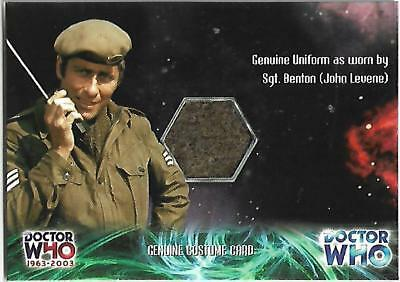 Doctor Who 1963-2003 : 40th Anniversary Costume Card CC1 Uniform As Sgt Benton