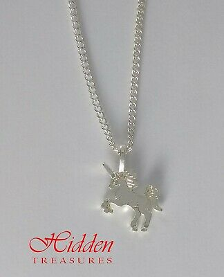 Small Unicorn Silver Colour Fashion Jewellery Necklace and Gift Box or Bag