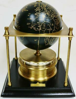 """Vintage """"The Royal Geographical Society World Clock"""" 8 Day Mystery Table Clock"""