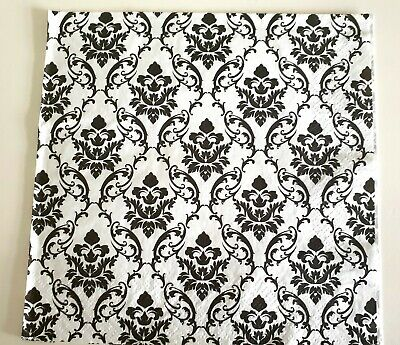 4 x single paper lunch Napkins for decoupage pattern