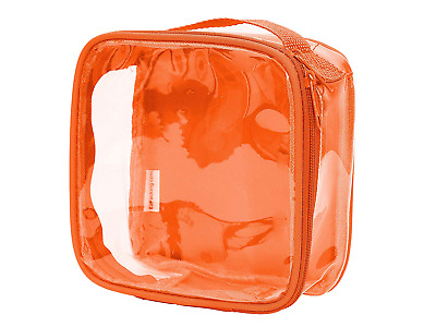 Clear TSA Approved 3-1-1 Travel Toiletry Bag/Transparent See Through Organiser