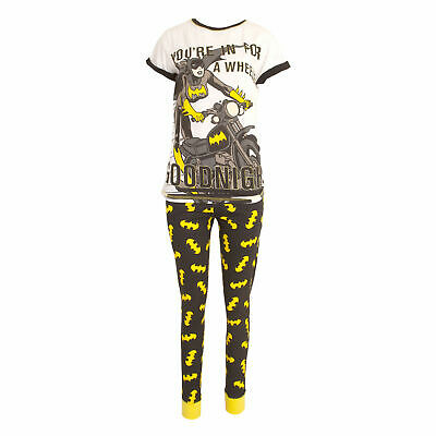 Ladies Batwoman DC Comics Nightwear PJ Pajama Set Womens Sleepwear Girls Pyjamas