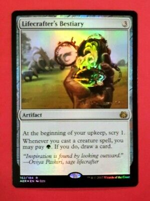 Artifact Aether Revolt Mtg Magic Rare 1x x1 1 Lifecrafter/'s Bestiary