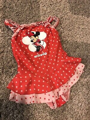 Disney Minnie Mouse 18-24  baby girls all in one swim suit