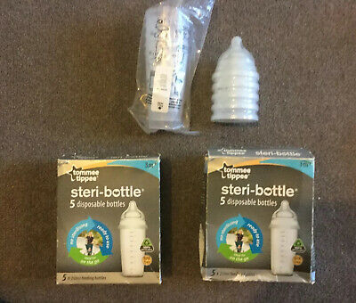 Tommee Tippee Baby Feeding Bottles Closer to Nature 260ml 9oz pre sterilised new