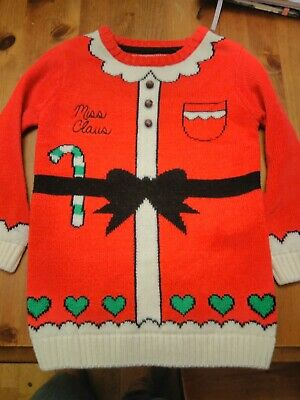 Primark girls christmas jumper Miss Claus 4-5 years