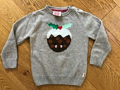 Tootsa MacGinty unisex 4-5 years Christmas Pudding Jumper cashmere blend VGUC