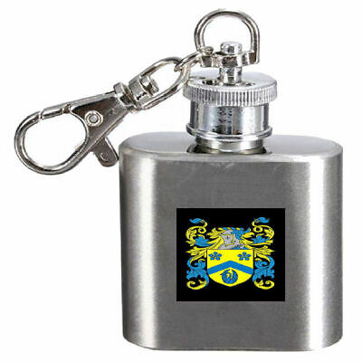 Select Gifts Rushby England Family Crest Surname Coat Of Arms Cufflinks Personalised Case