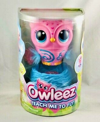 Owleez Teach me To Fly Interactive Flying PINK Owl With Nest By Spin Master