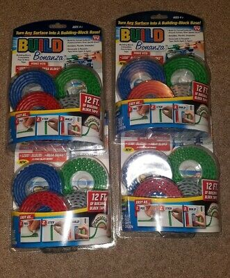 12 ft  Of Building Block Tape per pack! New In Package! LEGO Build Bonanza