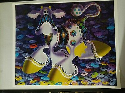 """VINTAGE  POSTER """" THE  FLOATING COW""""  Tea Lautrec S F, LITHO new old stock 1969"""