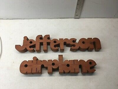 Very Rare Hand Carved Wood Jefferson Airplane MUSIC WOODEN STUFF RACK BAND OLD