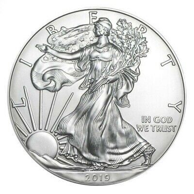 2019 $1 American Silver Eagle 1 oz. Silver Uncirculated From Original Roll!
