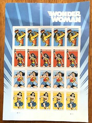 20 Wonder Woman 75th Anniversary USPS Forever First Class Postage Stamps 1 Sheet