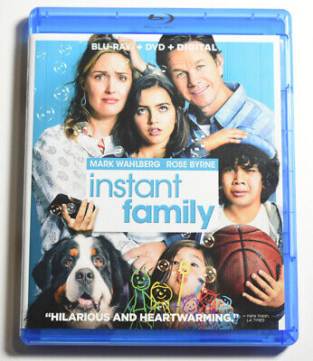 New INSTANT FAMILY BLU RAY DVD COMBO Mark Wahlberg Rose Byrne COMEDY MOVIE