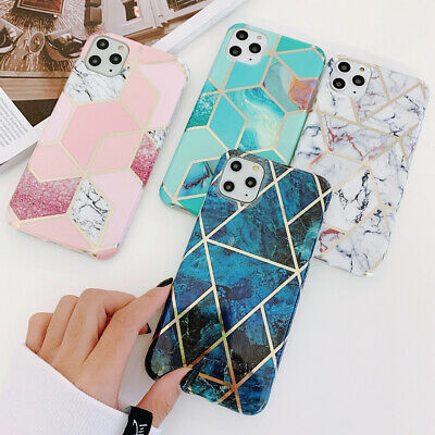 Geometric Marble Soft Phone Case Cover For iPhone 11 Pro Max XS XR X 8 7 6S Plus