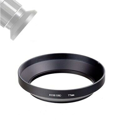 77mm Screw-in Mount Matel Wide Angle Lens Hood for Nikon Canon Sony Penrax Camer