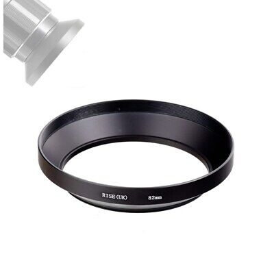 82mm Screw-in Mount Wide Angle Lens Hood for Camera Lens with 82mm Filter Thread
