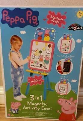 Peppa Pig Deluxe 3 - 1 Magnetic Activity Easel Boys Girls Toy Xmas Gift 3+ Years