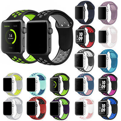 For Apple Watch Series 5/4 40/44mm Silicone Replacement Wrist Sport Band Strap