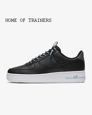 Nike Air Force 1 '07 Lux  Black Light Blue White Black Girls Women's Trainers