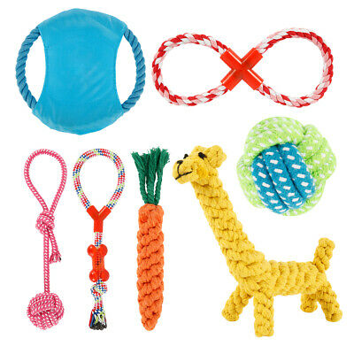 Dog Puppy Toy Rope Teething Chew Playtime And Teeth Cleaning Cotton Rope Toys.