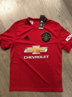 Genuine New With Tags Kids Junior 13-14 Yrs Manchester United Home Shirt 2019 20
