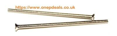 X 4 SOCKET FACEPLATE SCREWS  3.5mmx50mm .FITS ELECTRICAL SPUR MOUNTING SCREWS A1