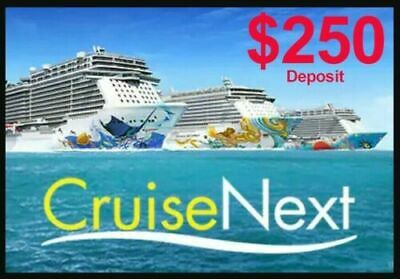 $250 Norwegian (NCL)  Next Cruise Gift Certificate , Exp: 2023