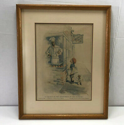 1923 Cream Of Wheat Matted & Framed Vacancy In The Dept Of Interior
